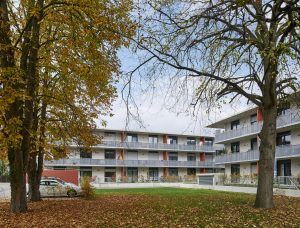 Neubau einer Wohnanlage mit Tiefgarage des Katholischen Siedlungswerks in der Fuettererstrasse in Landshut, Planung Architekturbuero Neumeister - Paringer