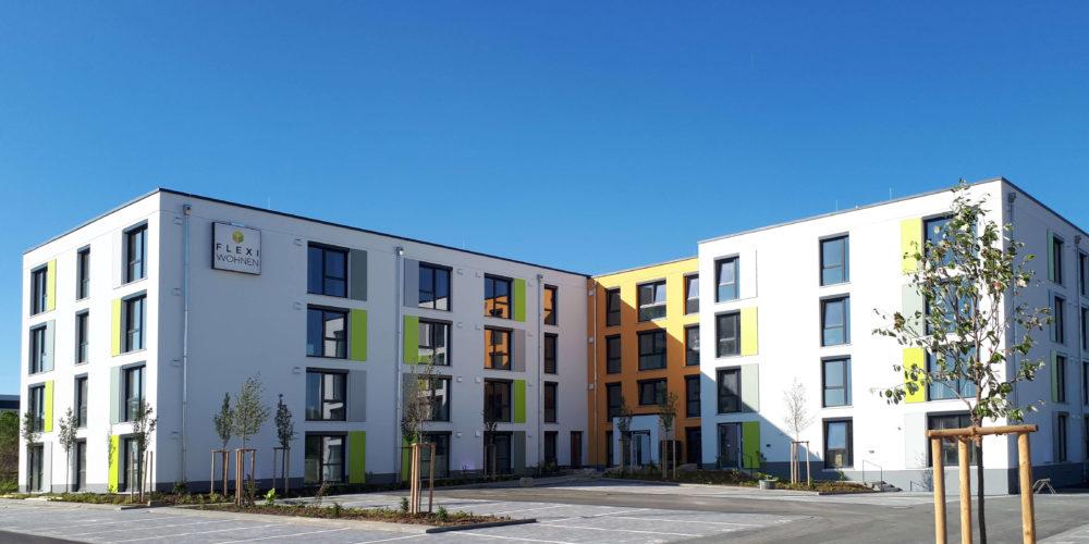 Aussenansicht des Flexi-wohnen Gebäude