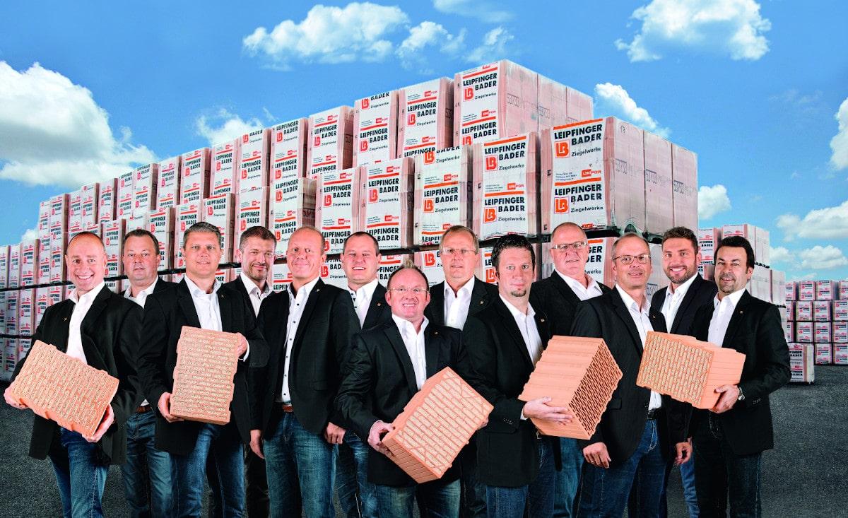 Gruppen Bild vom Leipfinger Bader Vertriebsteam.